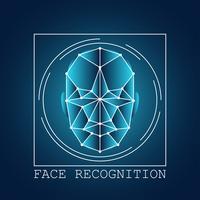 système de balayage de reconnaissance de visage humain vecteur