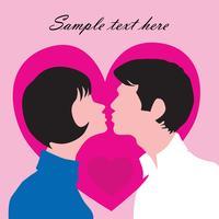 Couple amoureux. Carte de voeux St Valentin