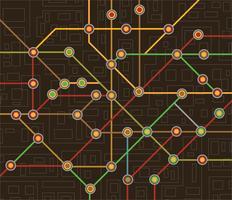 carte du métro vecteur