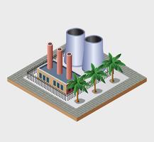 Ville industrielle vecteur