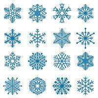 Ensemble de flocon de neige. Icônes de la neige. Signe de vacances d'hiver. Symboles de noël