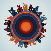 Maisons de ville de différentes couleurs vecteur