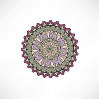Élément décoratif floral oriental. Ornement géométrique.
