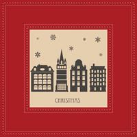 carte de Noël vecteur
