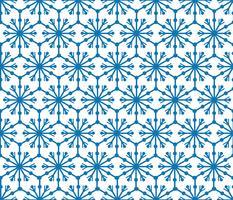 Modèle de tuile de flocon de neige ornement de vacances d'hiver texture géométrique vecteur