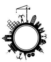 Bloc de ville stylisé vectoriel
