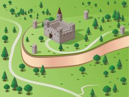 Château de vecteur