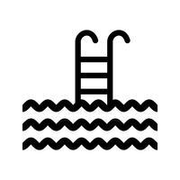 swiiming icône de glyphe noir