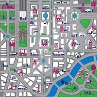 Carte ville vecteur