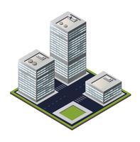 Bloc de ville 3D vecteur