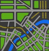 Carte vectorielle de la ville vecteur