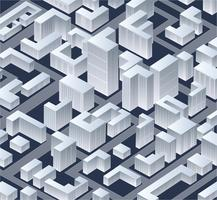 Ville de vecteur isométrique
