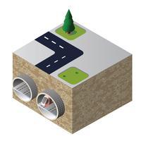 Tunnel isométrique vecteur