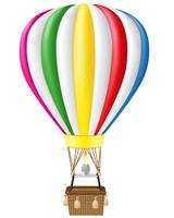 illustration vectorielle de ballon à air chaud vecteur