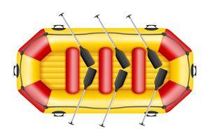 illustration vectorielle de bateau de rafting gonflable