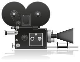 ancienne illustration vectorielle de caméra vidéo