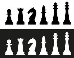 illustration vectorielle de pièces d'échecs