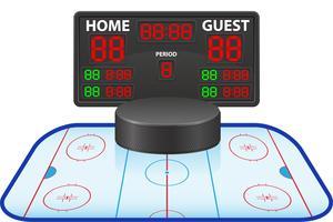 illustration vectorielle de hockey sportif tableau de bord numérique vecteur