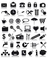 icônes noires