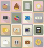 affaires et finances icônes plates vector illustration