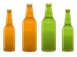 illustration vectorielle de bière bouteille