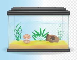 illustration vectorielle d'aquarium transparent