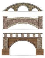 pont en pierre stock illustration vectorielle