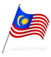drapeau de la Malaisie illustration vectorielle vecteur