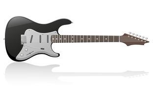 illustration vectorielle de guitare électrique vecteur