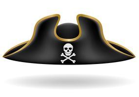 illustration vectorielle de pirate chapeau tricorne