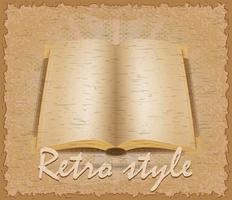 illustration vectorielle de style rétro affiche vieux livre