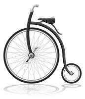 ancienne illustration vectorielle de vélo rétro vecteur