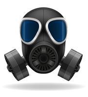 illustration vectorielle de masque à gaz vecteur
