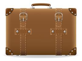 vieille valise à titre d'illustration vectorielle de voyage vecteur