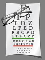 diagrammes pour les yeux et lunettes vecteur