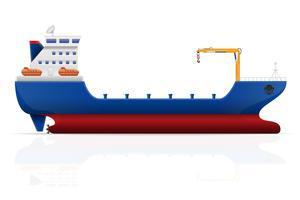 illustration vectorielle de navire cargo