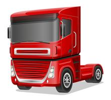 illustration vectorielle gros camion rouge
