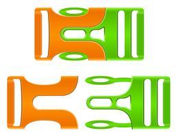 illustration vectorielle de boucle en plastique fermoir