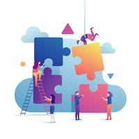 Illustration d'objectifs d'entreprise vecteur