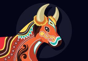 Illustration de taureaux Bumba Meu Boi vecteur