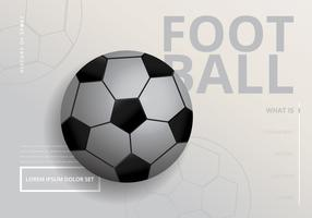 Illustration réaliste de football vecteur