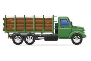 livraison de camion de fret et transport d'illustration vectorielle de matériaux de construction concept