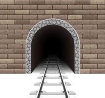 illustration vectorielle de tunnel ferroviaire