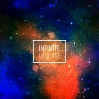 Design de fond abstrait galaxie