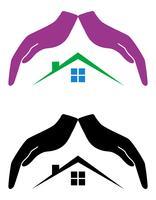 concept de protection et d'amour de l'illustration vectorielle maison vecteur