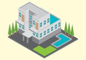 Vecteur de maison isométrique