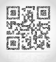 illustration vectorielle abstraite qr code vecteur