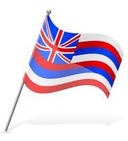 drapeau d'illustration vectorielle d'Hawaï vecteur