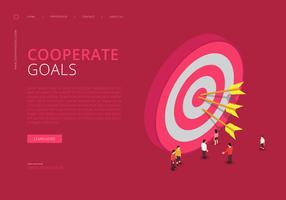 Infographie des objectifs de l'entreprise vecteur