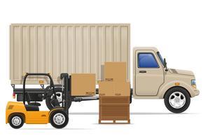 cargaison camion livraison et transport marchandises concept illustration vectorielle
